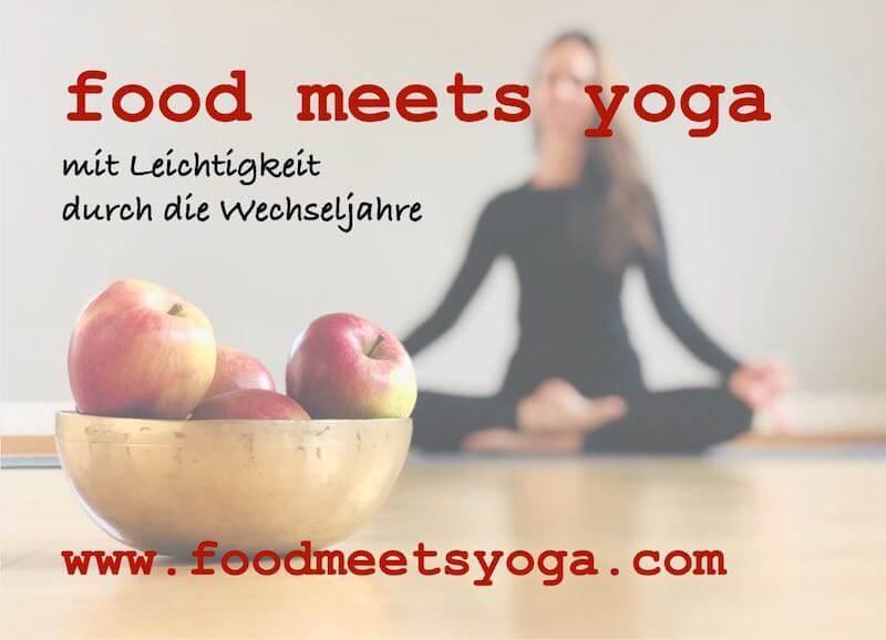 food meets yoga - Wechseljahre Karte